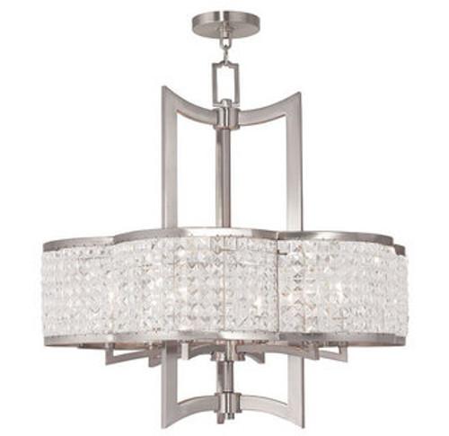 LIVEX Lighting 50576-91 Grammercy Chandelier in Brushed Nickel (6 Light)