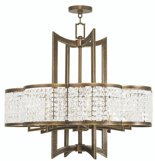 LIVEX Lighting 50578-64 Grammercy Chandelier with Hand-Painted Palacial Bronze (8 Light)