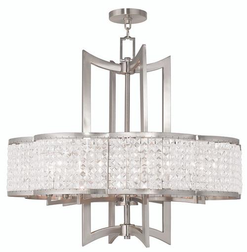 LIVEX Lighting 50578-91 Grammercy Chandelier in Brushed Nickel (8 Light)
