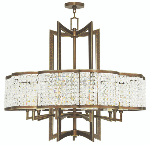 LIVEX Lighting 50579-64 Grammercy Chandelier with Hand-Painted Palacial Bronze (10 Light)