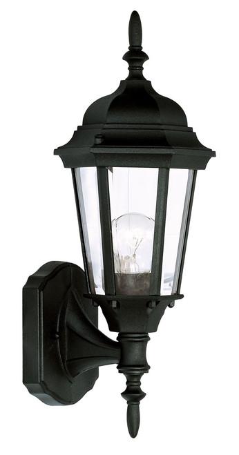 LIVEX Lighting 7551-04 Hamilton Outdoor Wall Lantern in Black (1 Light)