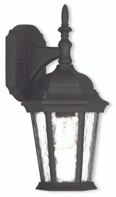 LIVEX Lighting 75460-14 Hamilton Outdoor Wall Lantern in Textured Black (1 Light)