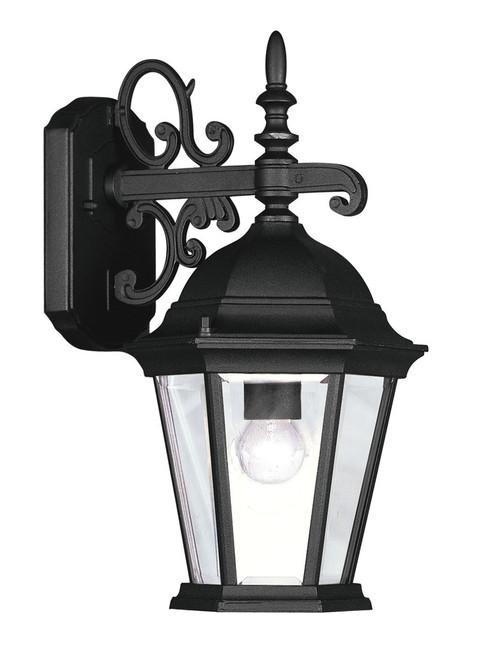 LIVEX Lighting 7555-04 Hamilton Outdoor Wall Lantern in Black (1 Light)