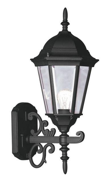 LIVEX Lighting 7556-04 Hamilton Outdoor Wall Lantern in Black (1 Light)