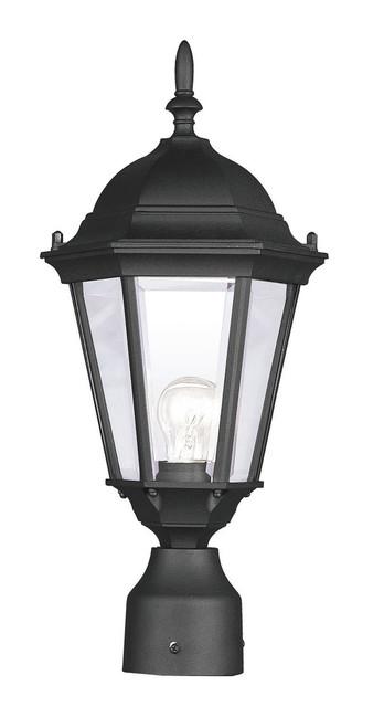 LIVEX Lighting 7558-04 Hamilton Outdoor Post Lantern in Black (1 Light)