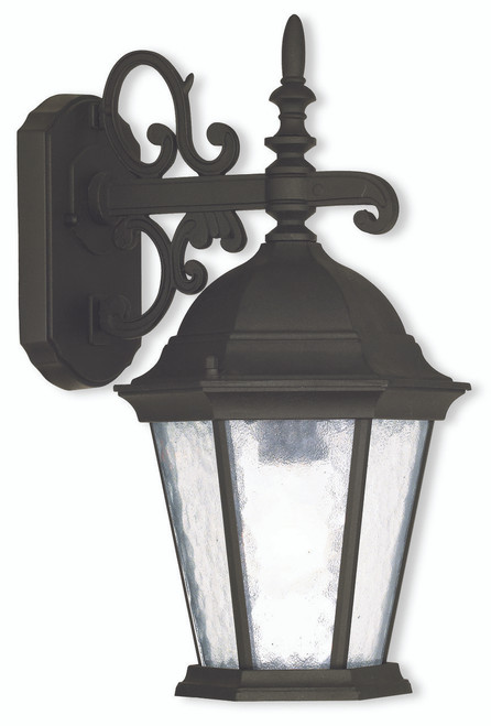 LIVEX Lighting 75462-14 Hamilton Outdoor Wall Lantern in Textured Black (1 Light)