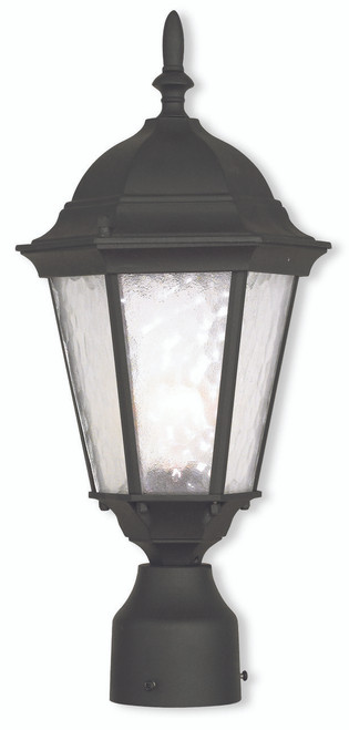 LIVEX Lighting 75464-14 Hamilton Outdoor Post Lantern in Textured Black (1 Light)
