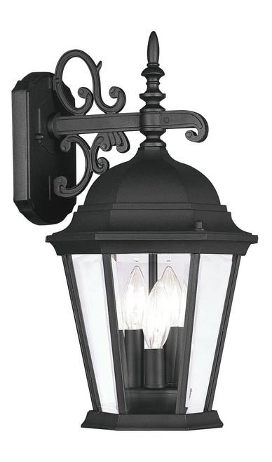 LIVEX Lighting 7560-04 Hamilton Outdoor Wall Lantern in Black (3 Light)