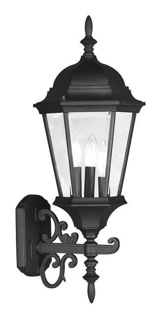 LIVEX Lighting 7561-04 Hamilton Outdoor Wall Lantern in Black (3 Light)
