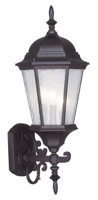 LIVEX Lighting 7561-07 Hamilton Outdoor Wall Lantern in Bronze (3 Light)