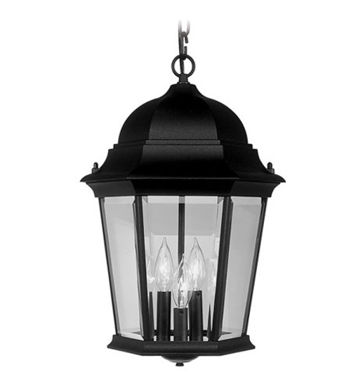 LIVEX Lighting 7569-04 Hamilton Chain Lantern in Black (3 Light)