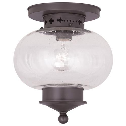 LIVEX Lighting 5036-07 Harbor Flushmount in Bronze (1 Light)
