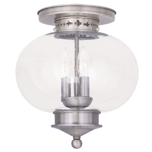 LIVEX Lighting 5037-91 Harbor Flushmount in Brushed Nickel (3 Light)