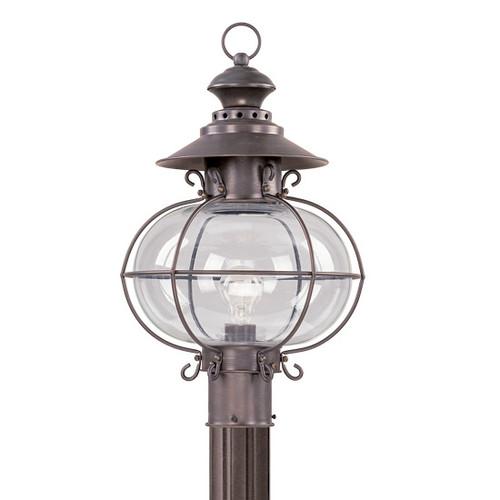 LIVEX Lighting 2226-07 Harbor Outdoor Post Lantern in Bronze (1 Light)