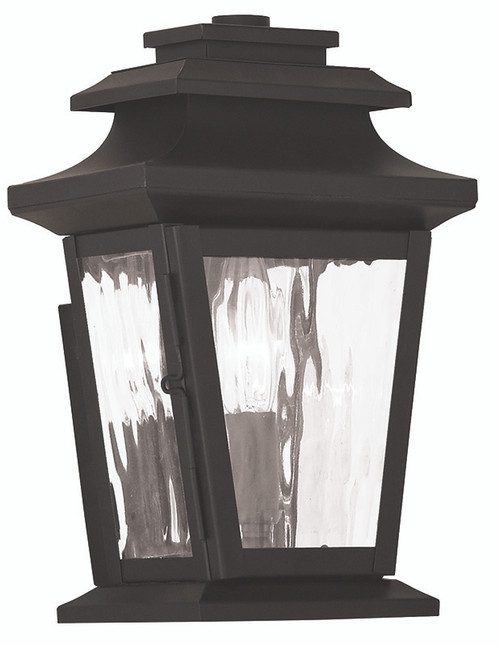 LIVEX Lighting 20255-07 Hathaway Outdoor Wall Lantern in Bronze (1 Light)