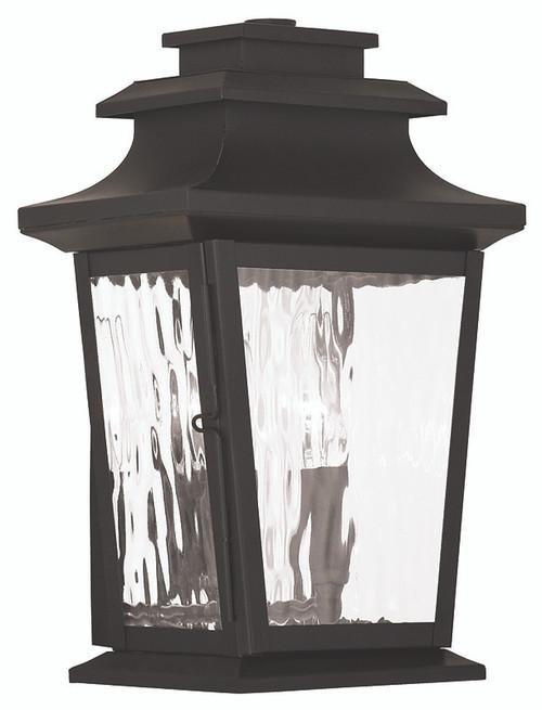 LIVEX Lighting 20256-07 Hathaway Outdoor Wall Lantern in Bronze (2 Light)
