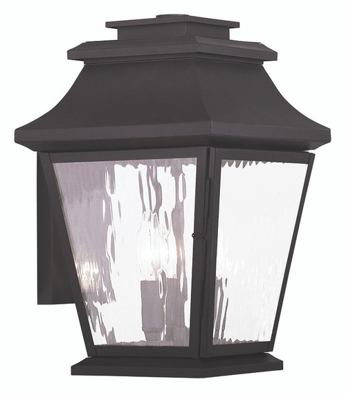 LIVEX Lighting 20235-07 Hathaway Outdoor Wall Lantern in Bronze (3 Light)
