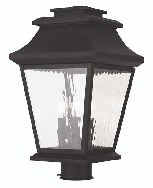 LIVEX Lighting 20238-07 Hathaway Outdoor Post Lantern in Bronze (3 Light)