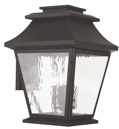 LIVEX Lighting 20240-07 Hathaway Outdoor Wall Lantern in Bronze (4 Light)
