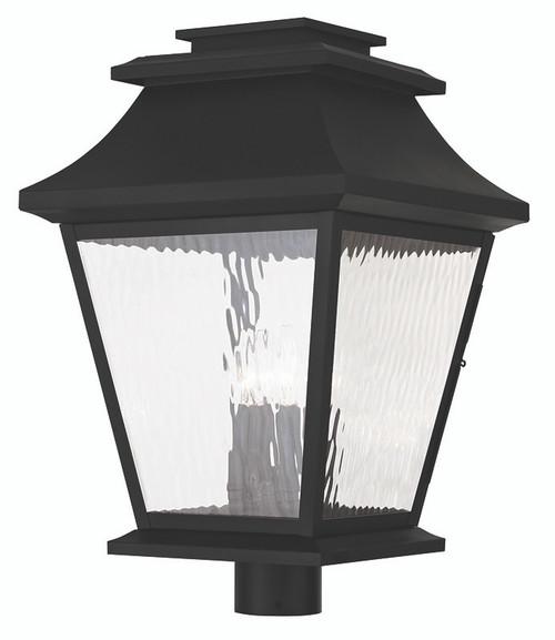 LIVEX Lighting 20244-04 Hathaway Outdoor Post Lantern in Black (4 Light)