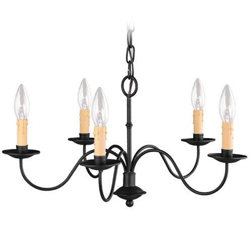 LIVEX Lighting 4465-04 Heritage Chandelier in Black (5 Light)