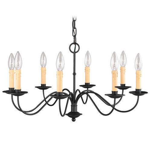 LIVEX Lighting 4468-04 Heritage Chandelier in Black (8 Light)