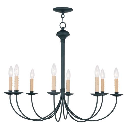 LIVEX Lighting 4457-04 Heritage Chandelier in Black (8 Light)