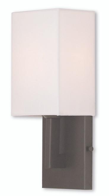 LIVEX Lighting 51101-07 Hollborn Contemporary ADA Wall Sconce in Bronze (1 Light)