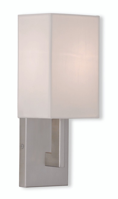 LIVEX Lighting 51101-91 Hollborn Contemporary Wall Sconce in Brushed Nickel (1 Light)