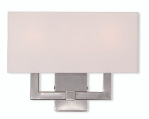 LIVEX Lighting 51104-91 Hollborn Contemporary Wall Sconce in Brushed Nickel (3 Light)