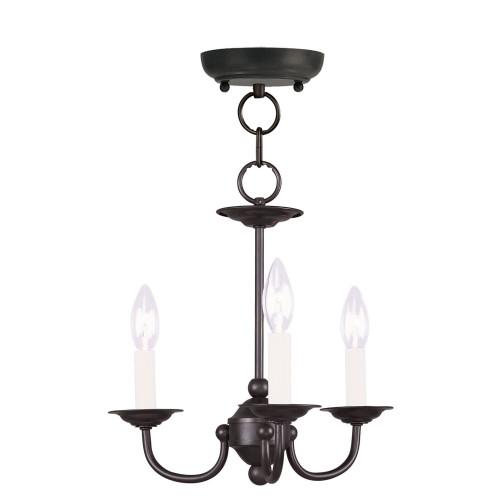 LIVEX Lighting 4153-04 Home Basics Mini Chandelier in Black (3 Light)