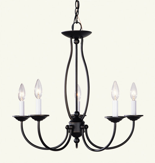 LIVEX Lighting 4155-07 Home Basics Chandelier in Bronze (5 Light)