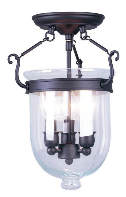 LIVEX Lighting 5061-07 Jefferson Flushmount in Bronze (3 Light)