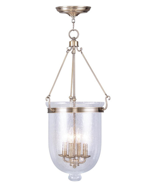 LIVEX Lighting 5085GL Jefferson Seeded Glass Diffuser