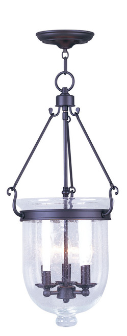 LIVEX Lighting 5084-07 Jefferson Chain Lantern in Bronze (3 Light)