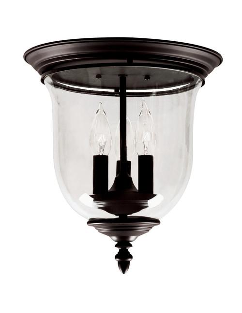 LIVEX Lighting 5021-07 Legacy Flushmount in Bronze (3 Light)