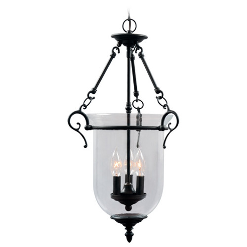 LIVEX Lighting 5022-07 Legacy Chain Lantern in Bronze (3 Light)