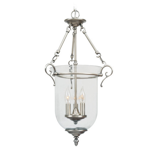 LIVEX Lighting 5022-91 Legacy Chain Lantern in Brushed Nickel (3 Light)