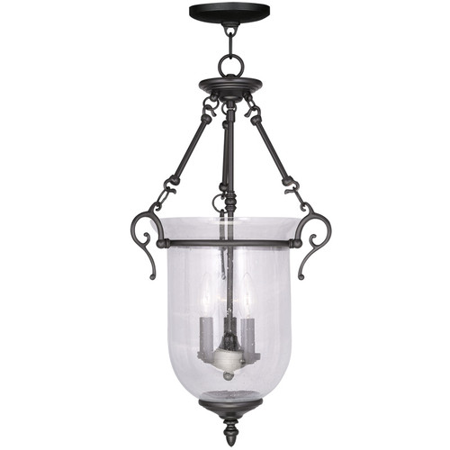 LIVEX Lighting 5025-04 Legacy Chain Lantern in Black (3 Light)