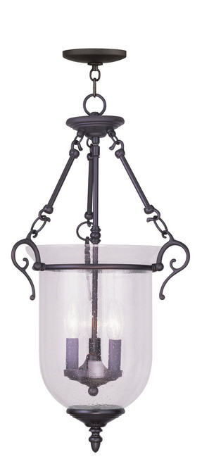 LIVEX Lighting 5025-07 Legacy Chain Lantern in Bronze (3 Light)