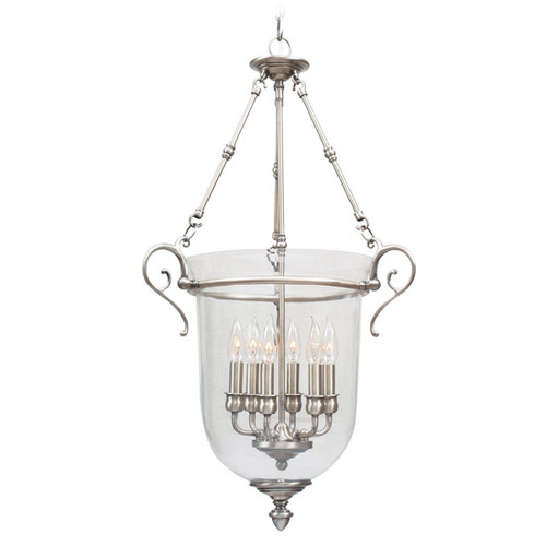 LIVEX Lighting 5023-91 Legacy Chain Lantern in Brushed Nickel (6 Light)