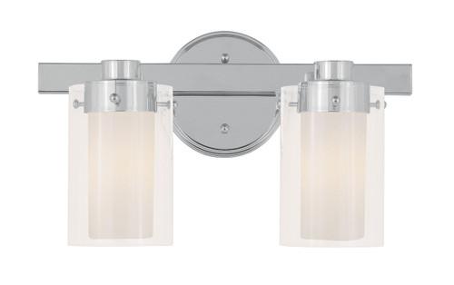 LIVEX Lighting 1542-05 Manhattan Contemporary Bath Light in Polished Chrome (2 Light)