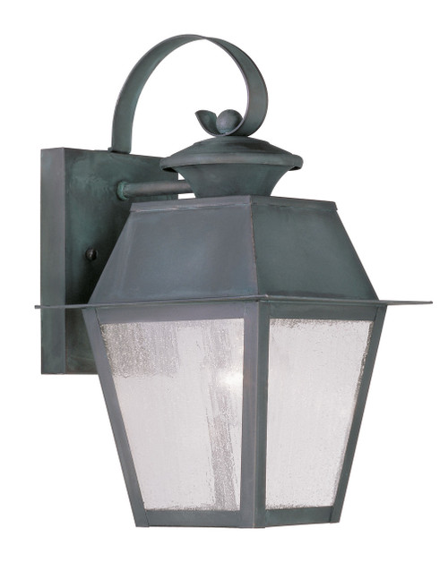 LIVEX Lighting 2162-61 Mansfield Outdoor Wall Lantern in Charcoal (1 Light)