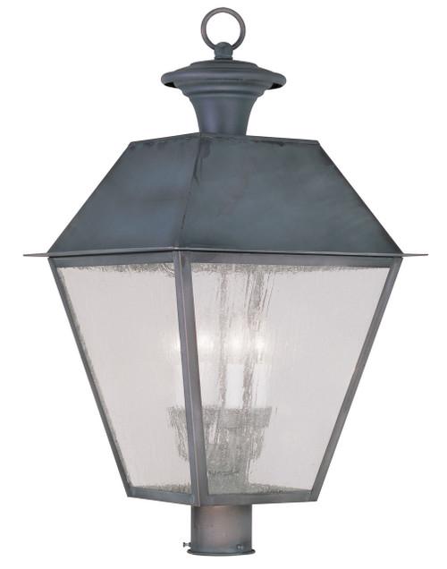 LIVEX Lighting 2173-61 Mansfield Outdoor Post Lantern in Charcoal (4 Light)