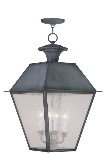 LIVEX Lighting 2174-61 Mansfield Outdoor Chain Lantern in Charcoal (4 Light)