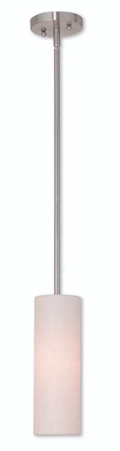 LIVEX Lighting 52130-91 Meridian Mini Pendant in Brushed Nickel (1 Light)
