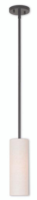LIVEX Lighting 52130-92 Meridian Mini Pendant in English Bronze (1 Light)