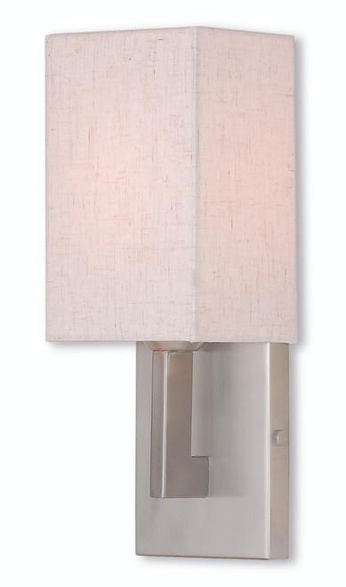 LIVEX Lighting 52131-91 Meridian ADA Wall Sconce in Brushed Nickel (1 Light)