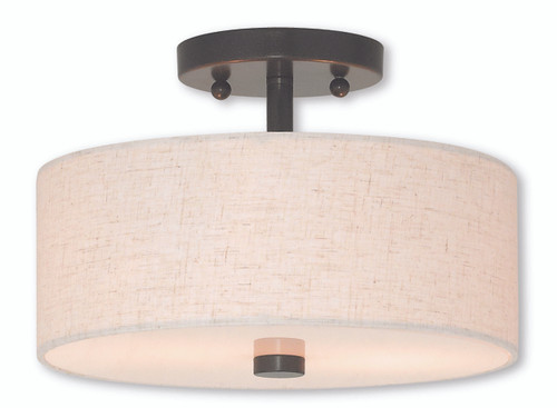 LIVEX Lighting 52133-92 Meridian Flushmount in English Bronze (2 Light)