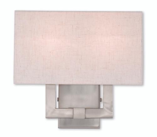LIVEX Lighting 52132-91 Meridian ADA Wall Sconce in Brushed Nickel (2 Light)